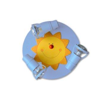 Waldi Deckenrondell Sonne Blau, 3-flammig