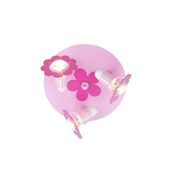 Elobra BLÜTE Rondell Pink, 3-flammig