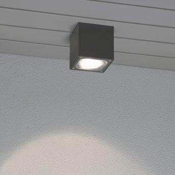 Konstsmide Leuchten Cesena Deckenleuchte LED Grau, Anthrazit, 1-flammig