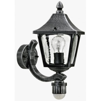 Albert Leuchten 1822 Außenwandleuchte Schwarz, Silber, 1-flammig, Bewegungsmelder