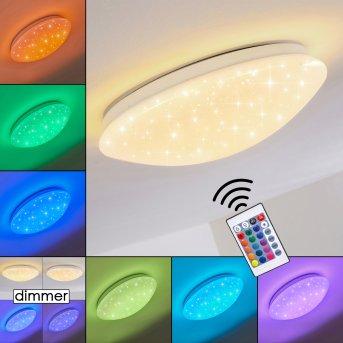 Norton Star Deckenleuchte LED Weiß, 1-flammig, Fernbedienung, Farbwechsler