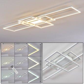 Alsterbro Deckenleuchte LED Weiß, 1-flammig, Fernbedienung