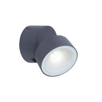 Lutec TRUMPET Aussenwandleuchte LED Anthrazit, 1-flammig