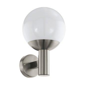 Eglo connect NISIA Außenwandleuchte LED Edelstahl, 1-flammig