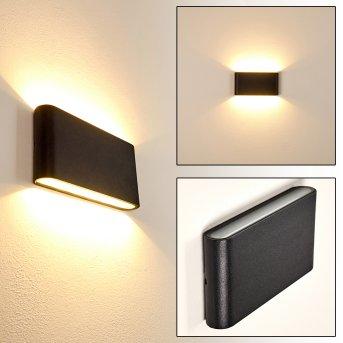 Marsh Außenwandleuchte LED Schwarz, 2-flammig