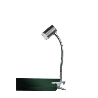 WOFI BRENT Klemmleuchte LED Nickel-Matt, 1-flammig