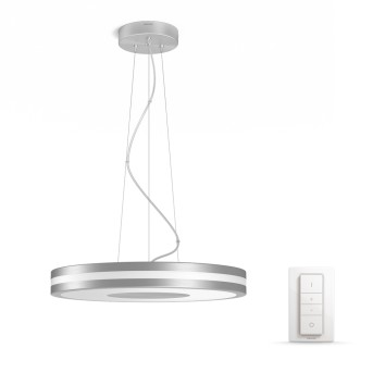 Philips Hue Ambiance White Being Pendelleuchte LED Silber, 1-flammig, Fernbedienung