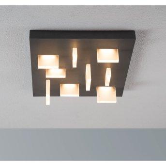 Escale Sharp Deckenleuchte LED Anthrazit, 9-flammig