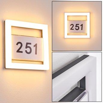 Linna Hausnummernleuchte LED Weiß, 1-flammig