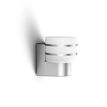 Philips Hue White Tuar Wandleuchte LED Silber, Aluminium, 1-flammig