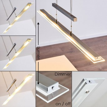 Hoting Pendelleuchte LED Nickel-Matt, Chrom, 4-flammig