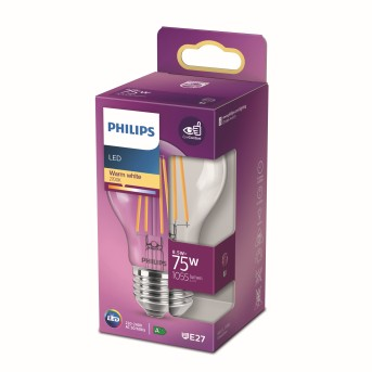 Philips LED E27 8,5 Watt 2700 Kelvin 1055 Lumen