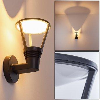 Stenbjerg Außenwandleuchte LED Schwarz, 1-flammig