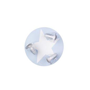 Waldi Mimbel Deckenleuchte Blau, Weiß, 3-flammig