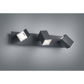 Trio Leuchten LAGOS Wandleuchte LED Schwarz, 3-flammig