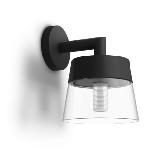 Philips Hue White & Color Ambiance Attract Wandleuchte LED Schwarz, 1-flammig