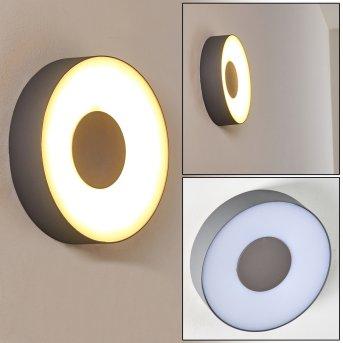 Felsted Außenwandleuchte LED Silber, 1-flammig