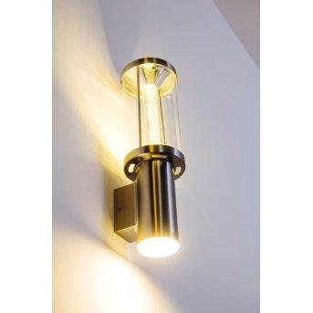 Popoyan Aussenwandleuchte LED Edelstahl, 2-flammig