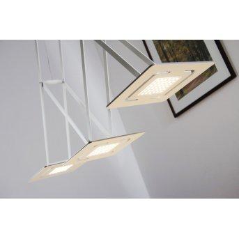 Evaluz SLIDE Hängeleuchte LED Weiß, 3-flammig