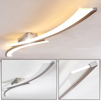 Orgia Deckenleuchte LED Nickel-Matt, 1-flammig