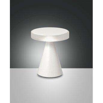 Fabas Luce Neutra Tischleuchte LED Weiß, 1-flammig