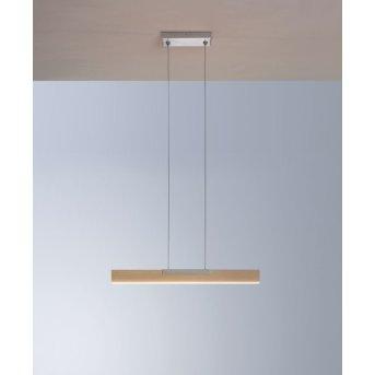 Bopp NANO Pendelleuchte LED Aluminium, Holz dunkel, 1-flammig