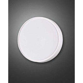 Fabas Luce HATTON Außenwandleuchte LED Weiß, Bewegungsmelder
