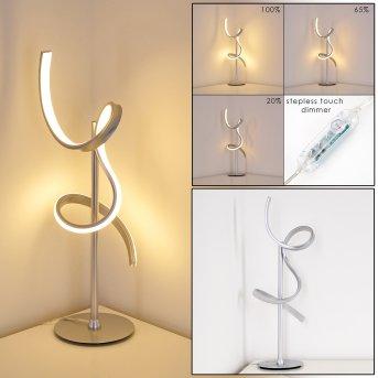 Lavaca Tischleuchte LED Silber, 1-flammig