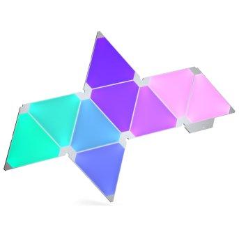 nanoleaf Erweiterungspack Wandleuchte 3er-Pack LED Weiß, 1-flammig, Fernbedienung, Farbwechsler